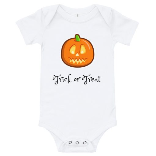 Halloween - Trick or Treat - Baby Onesie - AwesomeGraphix.com - T-Shirts, Caps, Mugs, Baby Onesies, Wall Art and more!