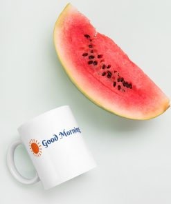 Good Morning with Bright Sun - Mug - AwesomeGraphix.com - T-Shirts, Caps, Mugs, Baby Onesies, Wall Art and more!
