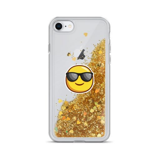Smiley Face - Liquid Glitter Phone Case - AwesomeGraphix.com - T-Shirts, Caps, Mugs, Baby Onesies, Wall Art and more!