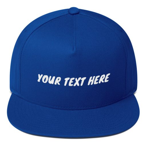 DIY: Customizable Embroidered Flat Bill Cap - AwesomeGraphix.com - T-Shirts, Caps, Mugs, Baby Onesies, Wall Art and more!