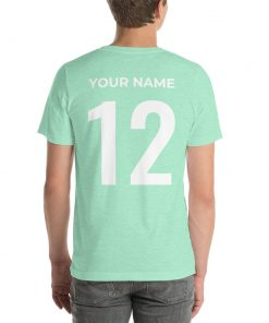 DIY: Customizable Front/Back Sports Short-Sleeve Unisex T-Shirt - AwesomeGraphix.com - T-Shirts, Caps, Mugs, Baby Onesies, Wall Art and more!
