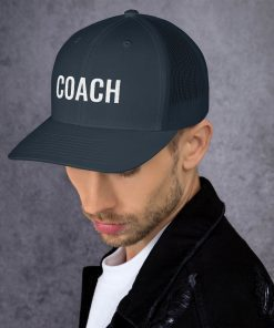 Coach - Embroidered Trucker Cap - AwesomeGraphix.com - T-Shirts, Caps, Mugs, Baby Onesies, Wall Art and more!
