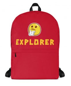 Curious Emoji Explorer - Backpack - AwesomeGraphix.com - T-Shirts, Caps, Mugs, Baby Onesies, Wall Art and more!