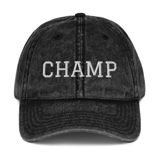 Champ - Embroidered Vintage Cotton Twill Cap - AwesomeGraphix.com - T-Shirts, Caps, Mugs, Baby Onesies, Wall Art and more!