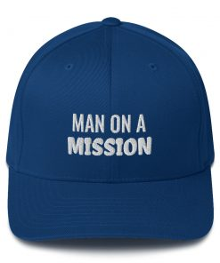 Man on a mission - Structured Twill Cap - AwesomeGraphix.com - T-Shirts, Caps, Mugs, Baby Onesies, Wall Art and more!