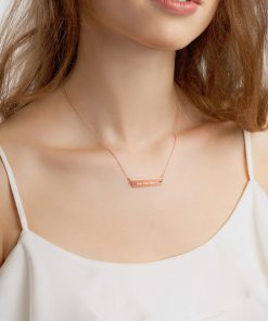 DIY: Customizable - Engraved Silver Bar Chain Necklace - AwesomeGraphix.com - T-Shirts, Caps, Mugs, Baby Onesies, Wall Art and more!