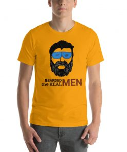 Bearded Men are Real Men - Funny Short-Sleeve Unisex T-Shirt - AwesomeGraphix.com - T-Shirts, Caps, Mugs, Baby Onesies, Wall Art and more!