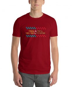 Happy & Merry New Yearly Christmas - Funny Short-Sleeve T-Shirt - AwesomeGraphix.com - T-Shirts, Caps, Mugs, Baby Onesies, Wall Art and more!