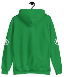 Green with White Shamrock / Clover Hoodie - AwesomeGraphix.com - T-Shirts, Caps, Mugs, Baby Onesies, Wall Art and more!