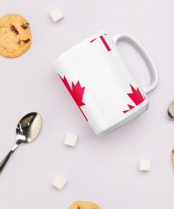 Canadian Maple Leaf Pattern Mug - AwesomeGraphix.com - T-Shirts, Caps, Mugs, Baby Onesies, Wall Art and more!