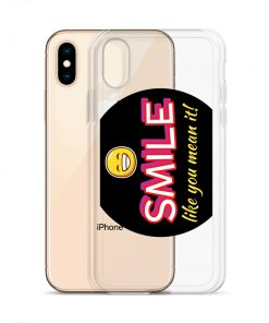 Smile Like You Mean It! - with Smiley Face - Funny iPhone Case (for various iPhones) - AwesomeGraphix.com - T-Shirts, Caps, Mugs, Baby Onesies, Wall Art and more!