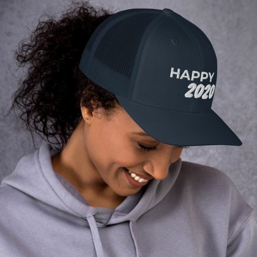 Happy 2020 - Embroidered Trucker Cap - AwesomeGraphix.com - T-Shirts, Caps, Mugs, Baby Onesies, Wall Art and more!