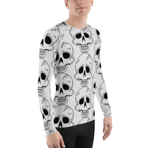 All-Over Skulls - Men's Rash Guard - AwesomeGraphix.com - T-Shirts, Caps, Mugs, Baby Onesies, Wall Art and more!