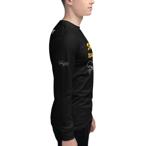 Men's Customizable Skate Boarding Champion Long Sleeve Shirt - AwesomeGraphix.com - T-Shirts, Caps, Mugs, Baby Onesies, Wall Art and more!