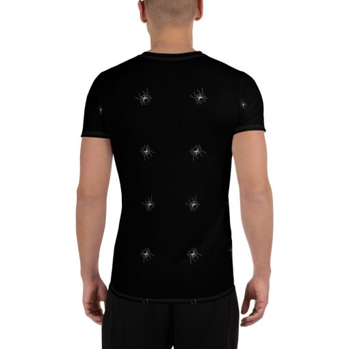 All-Over Spiders Print Men's Athletic Black T-shirt - AwesomeGraphix.com - T-Shirts, Caps, Mugs, Baby Onesies, Wall Art and more!