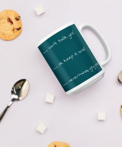 Funny different coffee level warnings - Mug - AwesomeGraphix.com - T-Shirts, Caps, Mugs, Baby Onesies, Wall Art and more!