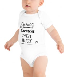 Worlds Greatest Sweet Heart - Cute Baby Onesie Bodysuit - AwesomeGraphix.com - T-Shirts, Caps, Mugs, Baby Onesies, Wall Art and more!