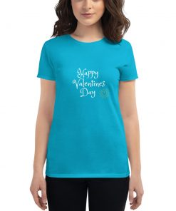 Happy Valentines Day - Glowing Heart - Women's short sleeve t-shirt - AwesomeGraphix.com - T-Shirts, Caps, Mugs, Baby Onesies, Wall Art and more!