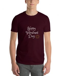 Happy Valentines Day - Glowing Heart - Short-Sleeve T-Shirt - AwesomeGraphix.com - T-Shirts, Caps, Mugs, Baby Onesies, Wall Art and more!