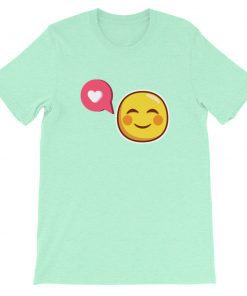 Blush-faced - Heart Callout bubble - Short-Sleeve Unisex T-Shirt - AwesomeGraphix.com - T-Shirts, Caps, Mugs, Baby Onesies, Wall Art and more!