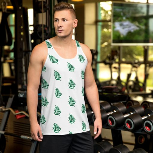 Areca Palm Calming Plants - Unisex Gym Tank Top - AwesomeGraphix.com - T-Shirts, Caps, Mugs, Baby Onesies, Wall Art and more!