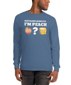 Mistaken Identity ImPeach or a Peach - Long Sleeve Shirt - AwesomeGraphix.com - T-Shirts, Caps, Mugs, Baby Onesies, Wall Art and more!
