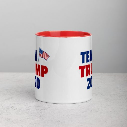 Team Trump 2020 Mug with Republican Colors - AwesomeGraphix.com - T-Shirts, Caps, Mugs, Baby Onesies, Wall Art and more!