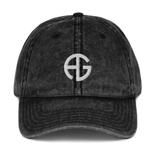 AG - AwesomeGraphix embroidered Logo - Vintage Cotton Twill Cap - AwesomeGraphix.com - T-Shirts, Caps, Mugs, Baby Onesies, Wall Art and more!