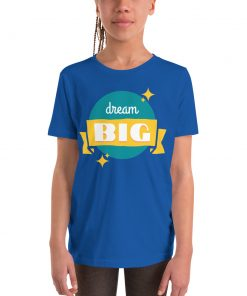 Dream Big - with Sparkles - Youth Short Sleeve T-Shirt - AwesomeGraphix.com - T-Shirts, Caps, Mugs, Baby Onesies, Wall Art and more!