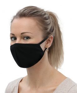 Simple Black Face Mask (3-Pack) - AwesomeGraphix.com - T-Shirts, Caps, Mugs, Baby Onesies, Wall Art and more!