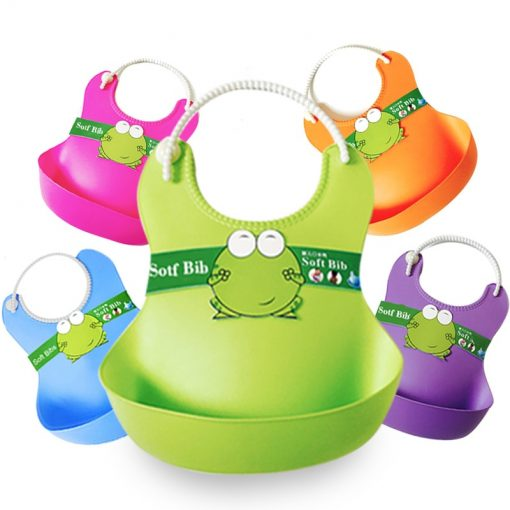 Solid Color Silicone Baby Bib - AwesomeGraphix.com - T-Shirts, Caps, Mugs, Baby Onesies, Wall Art and more!