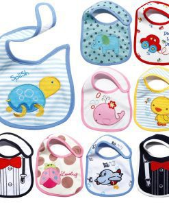 Cute Baby's Cartoon Printed Cotton Bibs - AwesomeGraphix.com - T-Shirts, Caps, Mugs, Baby Onesies, Wall Art and more!