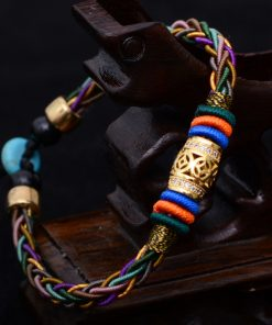 Women's Tibetan Style Woven Bracelet - AwesomeGraphix.com - T-Shirts, Caps, Mugs, Baby Onesies, Wall Art and more!