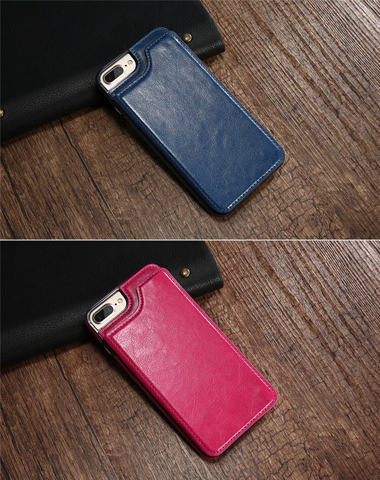 Learher Flip Wallet Case for iPhone
