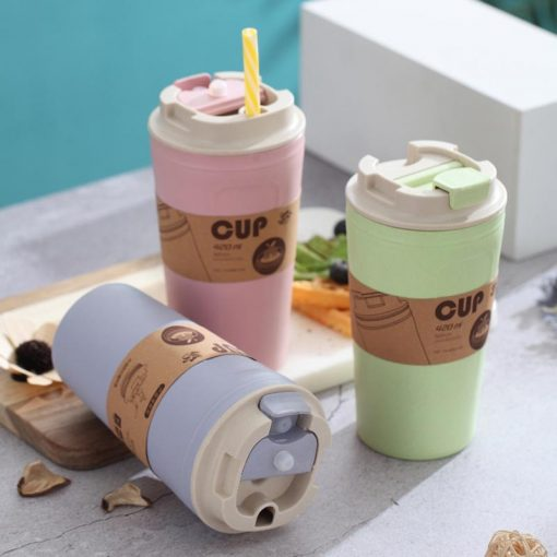 Portable Bamboo Fiber Coffee Mug with Lid - AwesomeGraphix.com - T-Shirts, Caps, Mugs, Baby Onesies, Wall Art and more!