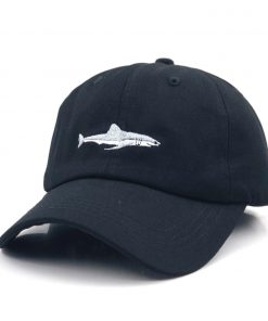 Men's Shark Embroidered Cotton Cap - AwesomeGraphix.com - T-Shirts, Caps, Mugs, Baby Onesies, Wall Art and more!