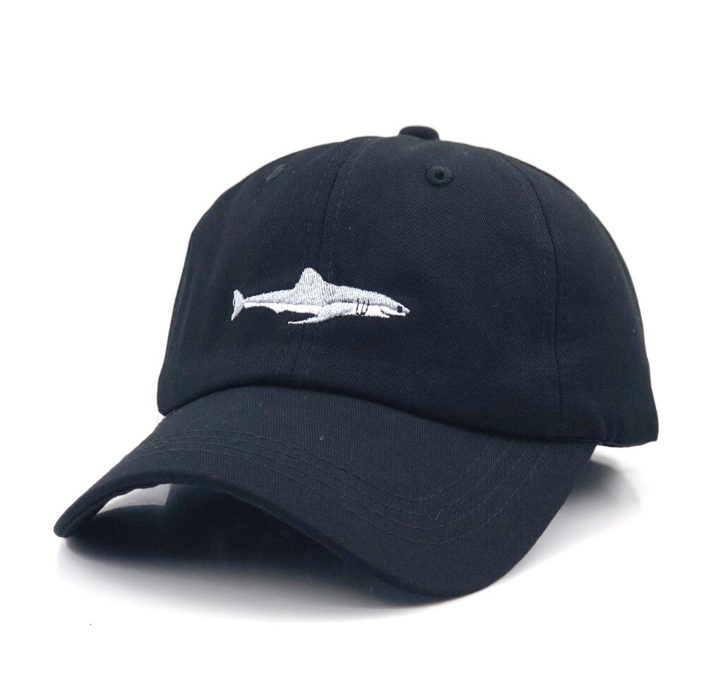 Men's Shark Embroidered Cotton Cap