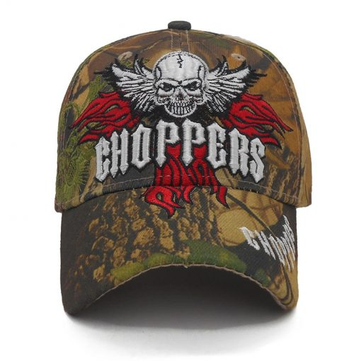 Men's Rock Style Skull Embroidered Cap - AwesomeGraphix.com - T-Shirts, Caps, Mugs, Baby Onesies, Wall Art and more!