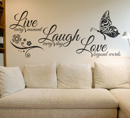 Modern Quotes Vinyl Wall Art Stickers - AwesomeGraphix.com - T-Shirts, Caps, Mugs, Baby Onesies, Wall Art and more!