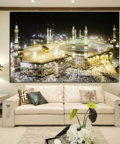 Evening Mecca Canvas Wall Art - AwesomeGraphix.com - T-Shirts, Caps, Mugs, Baby Onesies, Wall Art and more!