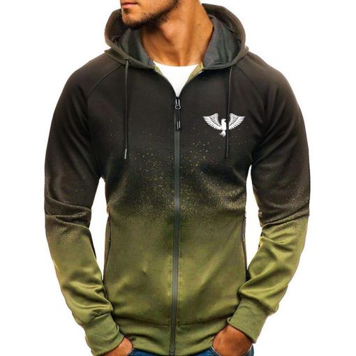 Men's Sport Gradient Hooded Jacket - AwesomeGraphix.com - T-Shirts, Caps, Mugs, Baby Onesies, Wall Art and more!