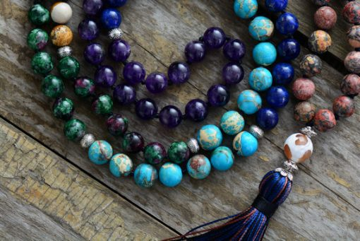 Natural Stone Chakra Necklace - AwesomeGraphix.com - T-Shirts, Caps, Mugs, Baby Onesies, Wall Art and more!
