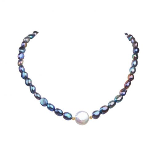 Black Natural Freshwater Pearl Choker Necklace for Women - AwesomeGraphix.com - T-Shirts, Caps, Mugs, Baby Onesies, Wall Art and more!