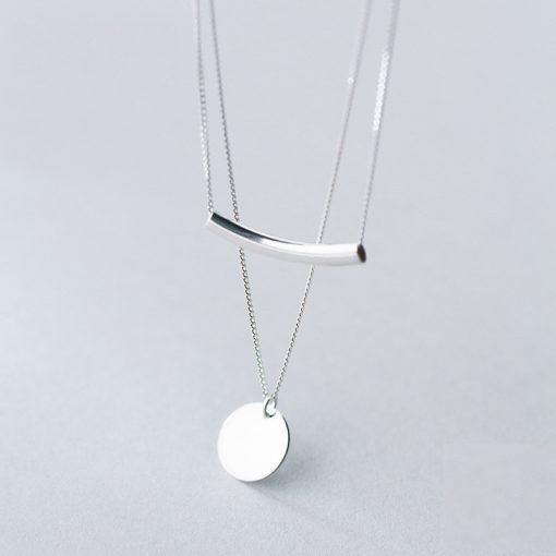 Simple Style Silver Layer Chain Necklace for Women - AwesomeGraphix.com - T-Shirts, Caps, Mugs, Baby Onesies, Wall Art and more!