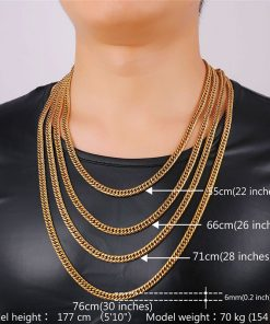 Men's Cuban Link Chain Necklaces - AwesomeGraphix.com - T-Shirts, Caps, Mugs, Baby Onesies, Wall Art and more!