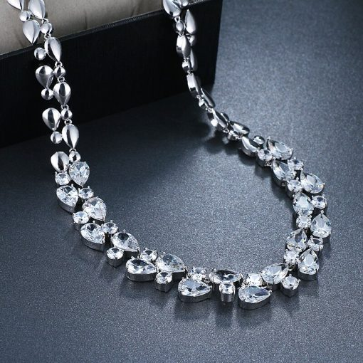 Women's Luxury Cubic Zirconia Choker Necklace - AwesomeGraphix.com - T-Shirts, Caps, Mugs, Baby Onesies, Wall Art and more!