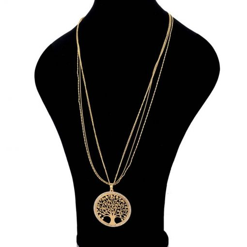 Women's Tree Of Life Necklace, Earrings and Bracelets Set - AwesomeGraphix.com - T-Shirts, Caps, Mugs, Baby Onesies, Wall Art and more!