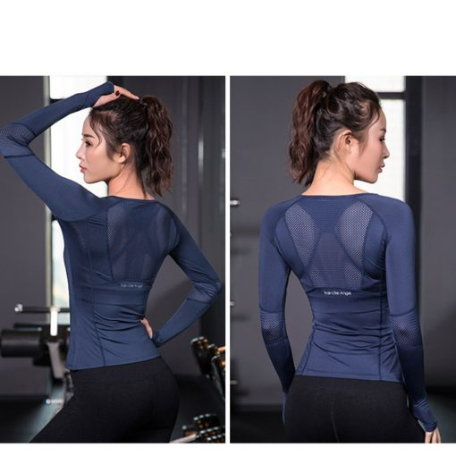 Women's Mesh Back Sports Long Sleeve - AwesomeGraphix.com - T-Shirts, Caps, Mugs, Baby Onesies, Wall Art and more!