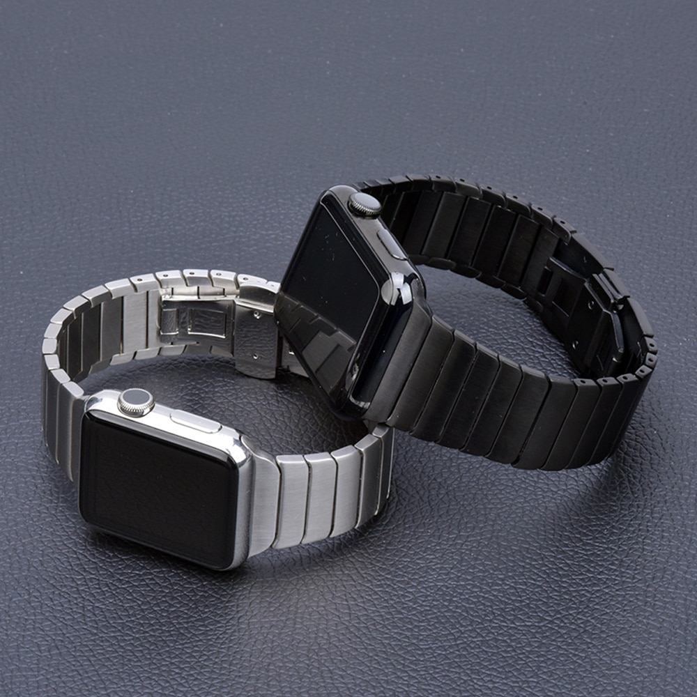 Stainless Steel Band for Apple Watch with Butterfly Buckle