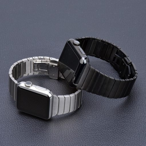 Stainless Steel Band for Apple Watch with Butterfly Buckle - AwesomeGraphix.com - T-Shirts, Caps, Mugs, Baby Onesies, Wall Art and more!